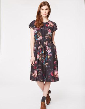 WWD3357-vermeer-floral-print-tencel-dress-front