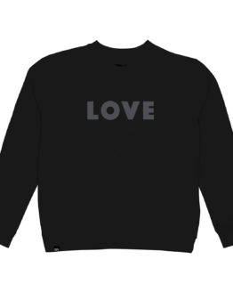 Sweater LOVE - Dedicated - Biokatoen - Zwart