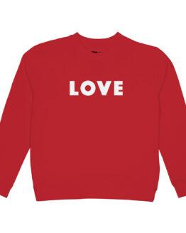 Sweater Love - Dedicated - Biokatoen - Rood
