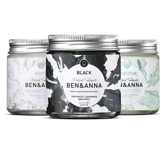 Tandpasta Ben & Anna Natuurlijk Wit zwart orange sensitive