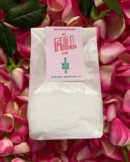 Zakje met aanvulling kaars in geur wilde rose