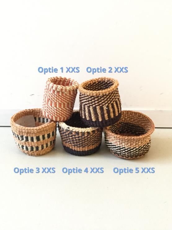 XXS Handgeweven mandjes - Natuur - Hadithi Crafts - Sisal Gras