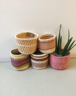 Handgeweven mandjes - Hadithi Crafts - Sisal Gras - Multi - XS