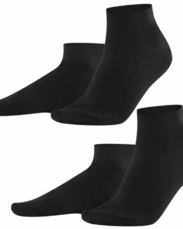Zwarte Sneakersokken Heren Biokatoen