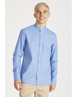 Hemd - Givn - Biokatoen - blauw met stippen - wes
