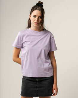 T-shirt - Melawear - Biokatoen - Lila/Blauw/Oranje/Gestreept - Khira