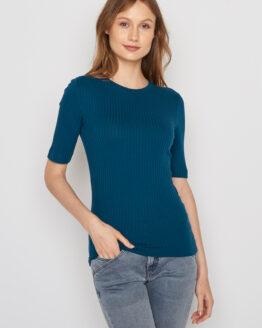 Jumper - Greenbomb - Tencel - Zeemansblauw - Lane. T-shirtbloes - 95% Tencel. Op een duurzame manier geproduceerd in Lenzing, Oostenrijk.