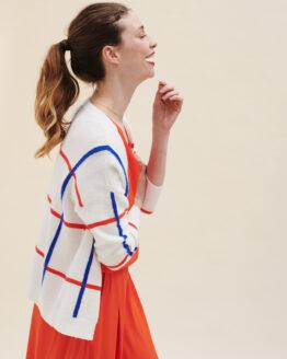 Cardigan - LilyBalou - Katoen - Mondriaan print - Irina