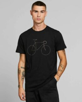 T-shirt Dedicated Biokatoen Regenboog fiets Stockholm zwart