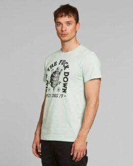 T-shirt-Dedicated-Biokatoen-Slow-Down-stockholm