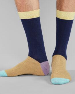 sokken man colour block dedicated beige