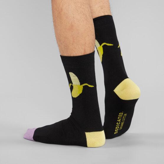 sokken man banaan dedicated zwart