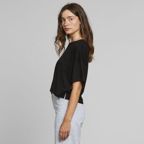T-Shirt - Dedicated - Tencel - Zwart - Kivik