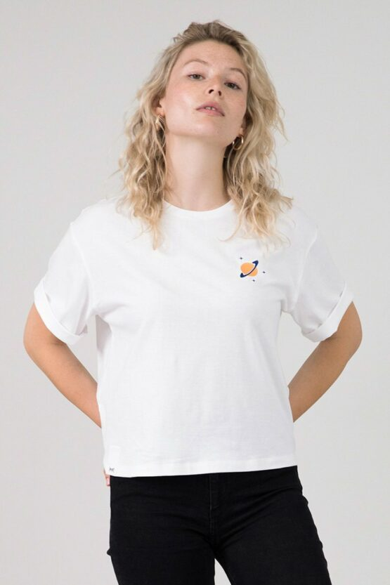 T-shirt cropped - Eyd - Biokatoen - planeet - vayana
