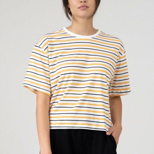 T-shirt cropped - Eyd - Biokatoen - Streepjes - Vayana