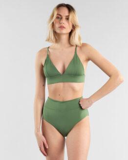Bikini top - Dedicated - Gerecycleerd Polyester - Olijfgroen - Hemse
