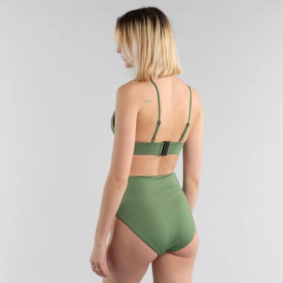 Bikini broek - Dedicated - Gerecycleerd Polyester - Olijfgroen - Slite