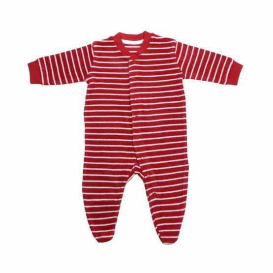 Baby pyjama - LivingCrafts - Biokatoen - Badstof - Blauw/Rood - BEE