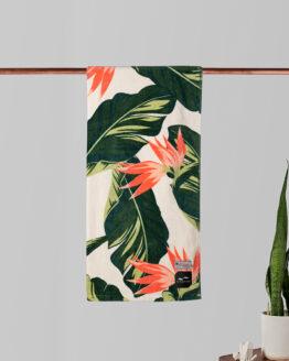 Strandhanddoek - Slowtide - Eco Katoen - Mauka - Tropische bloemenprint