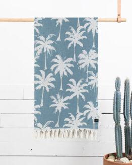 Turkse handdoek - Blauwe Palmbomen - Slowtide - Loreto