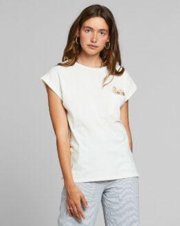 T-shirt Dedicated Biokatoen Bloemenzakje Visby Gebroken Wit Just Hazel