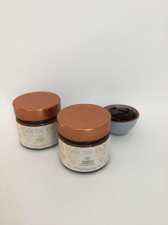 Chocoladespread - Holy Cow - hazelnoot of pinda - 200 g