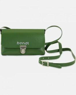 Handtasje-Bendl-Upcycled-vrachtwagenzeil-3-kleuren groen