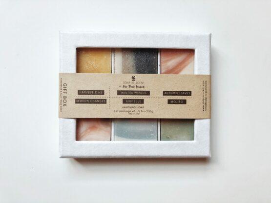 Zeepjes set gift box kanika soap 'n scent 6 geuren