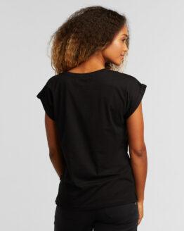 T-shirt basic - Dedicated - Biokatoen - Zwart - Visby