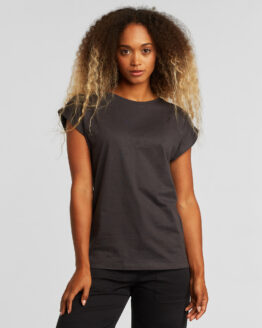 T-shirt basic - Dedicated - Biokatoen - Donkergrijs - Visby