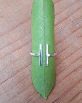 ring pakilia fairtrade zilver parallelo