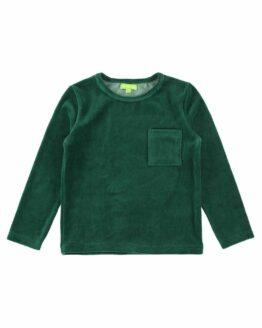 Baby Truitje Lily Balou Velours groen Oscar