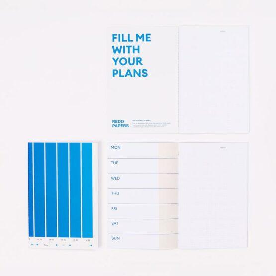 Agenda - Redopapers - Gerecycleerd papier - Blanco